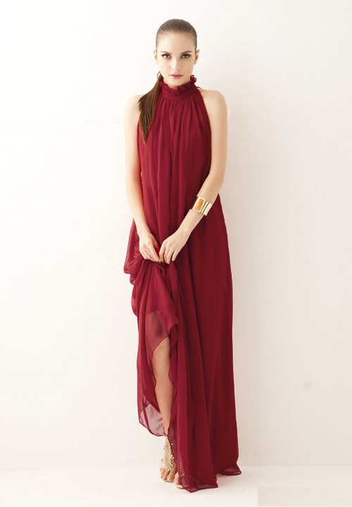 0187190995 Suknia wieczorowa elegancka maxi klasyczna zwiewna MODITO