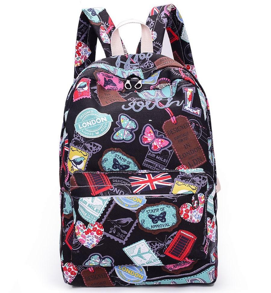 bfb5ec1ae5cfd Tornister plecak szkolny damski motyle flagi duży pojemny a4 MODITO