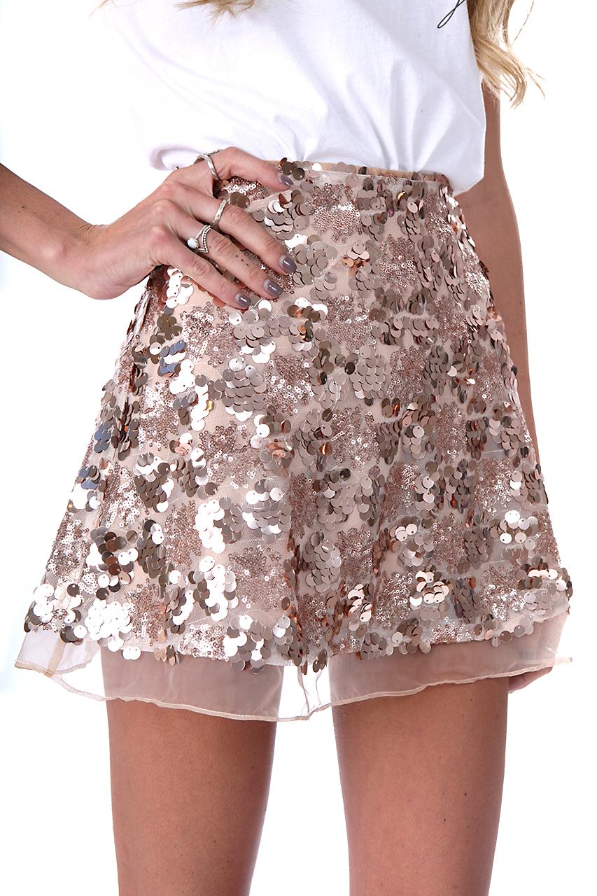 Spódnica, spódniczka, cekiny, złota, srebrna, mini