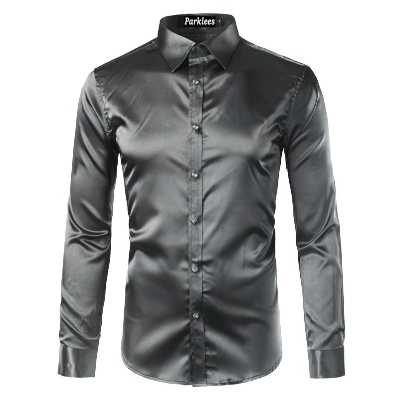 Koszula męska slim fit gładka satynowa wiele kolorów MODITO  yMdcq