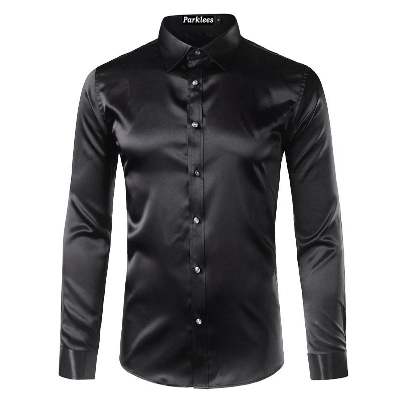 9856057a683550 Koszula męska slim fit gładka satynowa wiele kolorów MODITO