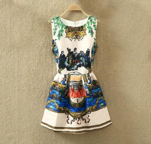 d0c9947c3d Rozkloszowana sukienka na okazje różne wzory s-m. EK238. EK238  WZÓR 1  WZÓR  2 ...