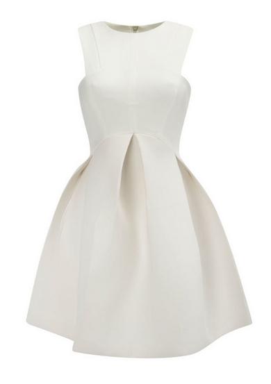 11aaea5fcf Sukienka rozkloszowana kontrafałdy czarna biała żółta s m MODITO