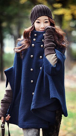 Płaszcz damski jesienny granatowy l
